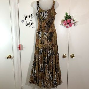 JONES NEW YORK MAXI ANIMAL TRIBAL PRINT SIZE 4